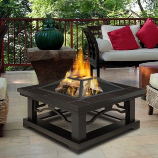 Real Flame Crestone Brown Tile-top 34 x 34-inch Outdoor Fire Pit