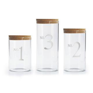 Numbered Glass Canisters (Set of 3)