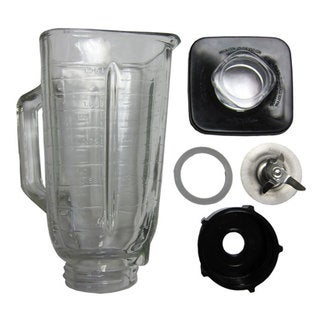 6-piece Complete Glass Jar Replacement Kit for Oster Blender 4899