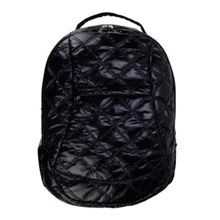 Trend Lab Black Quilted Voyager Backpack Diaper Bag