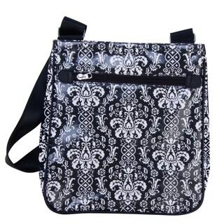 Trend Lab Midnight Fleur Damask Diaper Bag