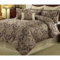 Ethel Gold/ Purple 8-piece Floral Comforter Set