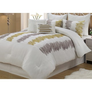 Meridia Abstract White 8-piece Comforter Set