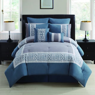Dorsey 8-piece Embroidered Comforter Set
