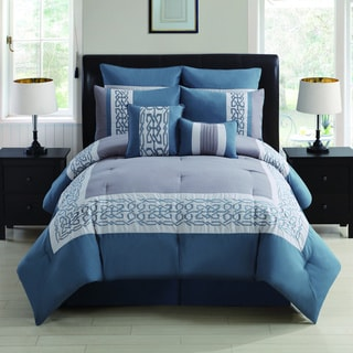 Dorsey 8-piece Embroidered Comforter Set