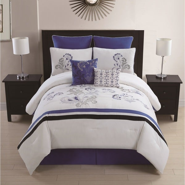 Celestine 8-piece Embroidered Comforter Set
