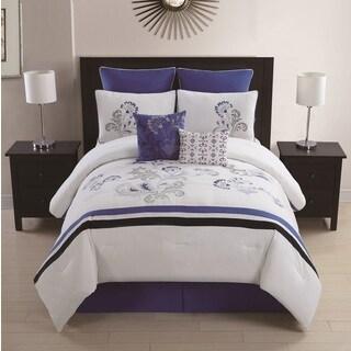 Celestine 8-piece Embroidered Comforter Set