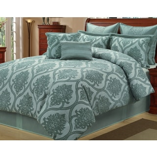 Carlyle Sea Foam 8-piece Comforter Set