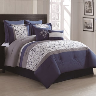 Merrill 8-piece Embroidered Comforter Set