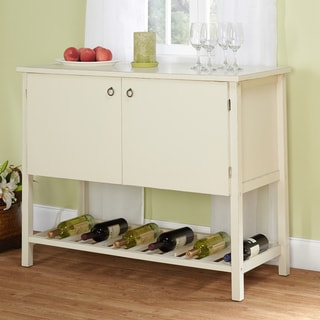 Simple Living Antique White Harvey Buffet