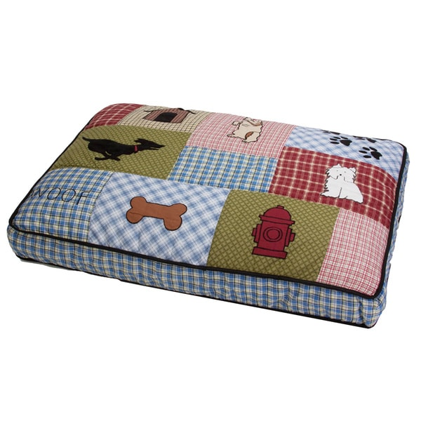 Medium Patchwork Quilt-top Pet Bed