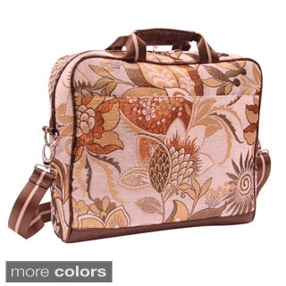 Mellow World Lotus Floral Tapestry 15-inch Laptop Case