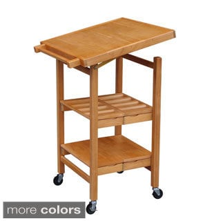 Oasis Concepts The Entertainer II All Wood Folding Kitchen Island