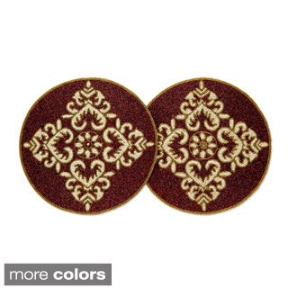 Celebration Medallion Beaded 2-piece Place Mat Set