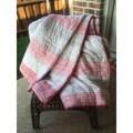 Timbergirl Red/ Grey Organic Cotton Block Print Quilt (India)