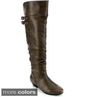 Blossom Women's 'Firenze-15' Buckle Strap Knee-high Boots