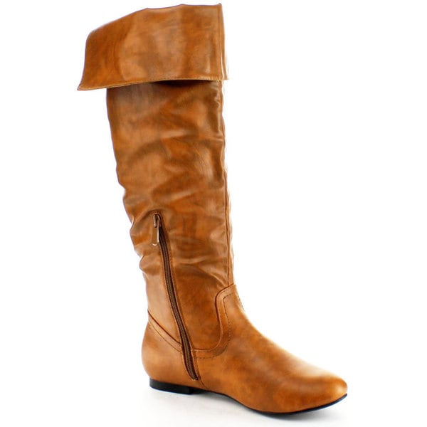 Nature Breeze Women's 'Vickie-26' Fold-down Knee-high Boots