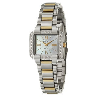 Seiko Women's SUP239 Solar Diamond and Stainless Steel Watch