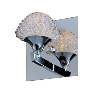 'Blossom' Chrome and Crystal Floral-shaped Bath Vanity Fixture