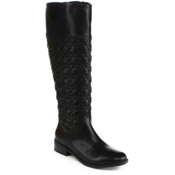 DBDK Women's 'Cycilia-1' Quilted Detail Knee-high Riding Boots