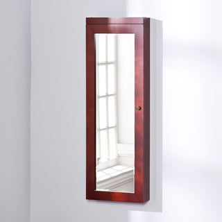 Upton Home Adelaide Cherry Lighted Jewelry Mirror