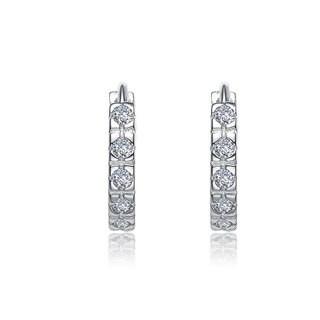 Collette Z Sterling Silver Cubic Zirconia Mini Hoop Earrings