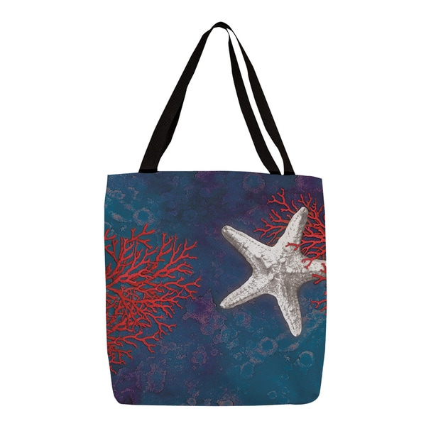 Thumbprintz 'Seastar Bay' Starfish Printed Tote