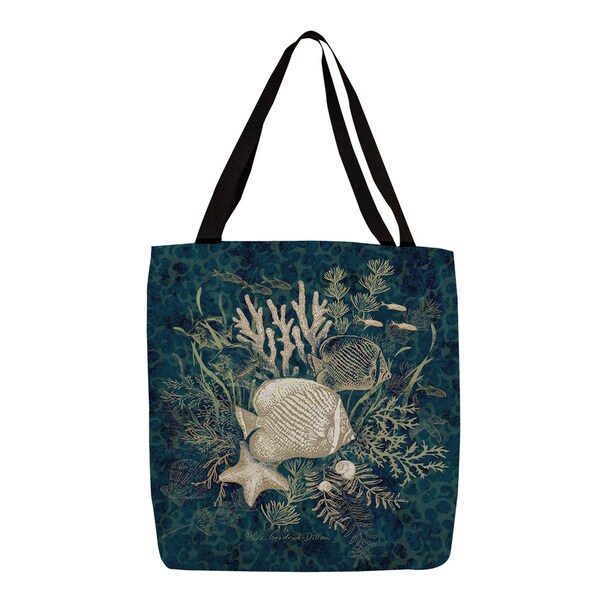 Thumbprintz Blue Fish Vignette Printed Tote
