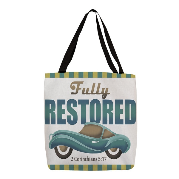 Thumbprintz 'Fully Restored' Bible Verse Tote 13829108
