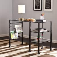 Carbon Loft Glenn Metal and Glass Writing Desk Deals