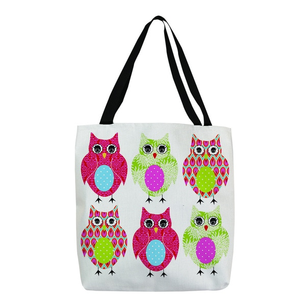 Thumbprintz 'Owls' Multicolor Printed Tote