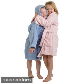 Simple Elegance Superior Collection Luxurious Egyptian Cotton Unisex Kids Hooded Bath Robe