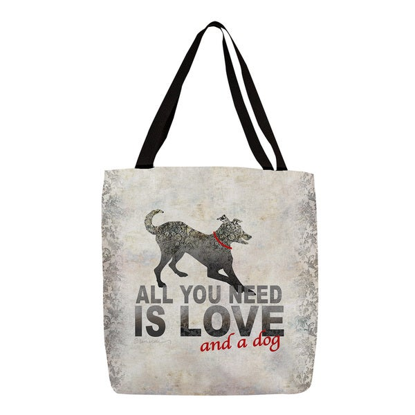 Thumbprintz 'All You Need is Love and a Dog' Tote