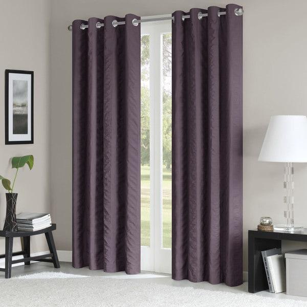 madison park richmond vertical stripe solid window panel. Black Bedroom Furniture Sets. Home Design Ideas