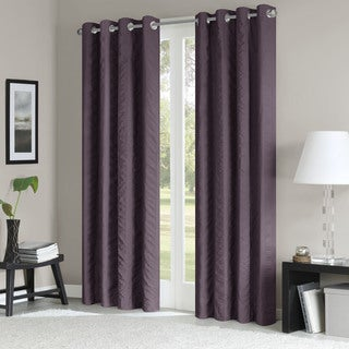 Madison Park Richmond Vertical Stripe Solid Window Panel