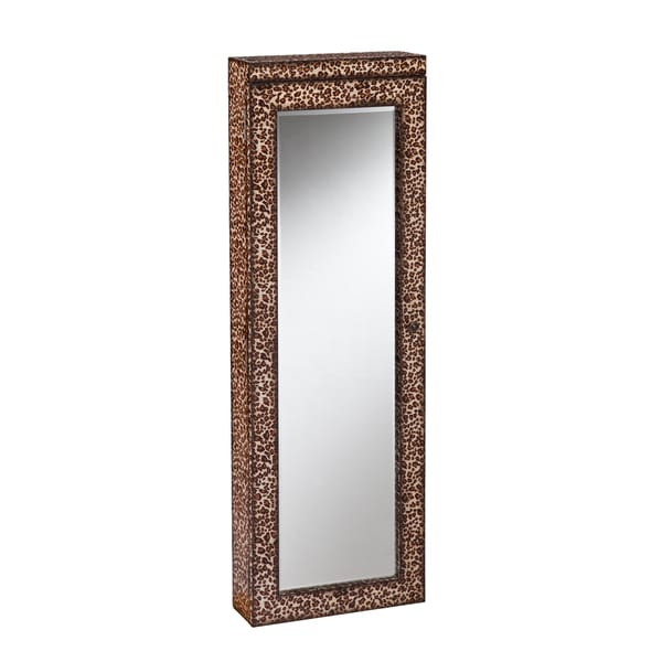 Upton Home Adelaide Leopard Lighted Jewelry Mirror