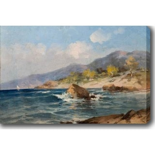 California Coast' Oil on Canvas Art