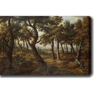 Jakob Christoph Weyermann 'Deer Hunting' Oil on Canvas Art