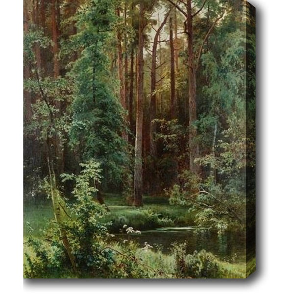 Creek in the Redwoods' Oil on Canvas Art 13829248