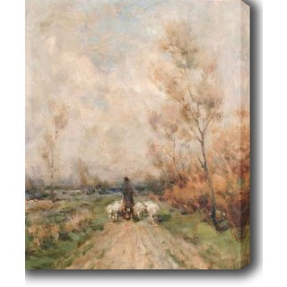 Grazing in the Fall' Oil on Canvas Art