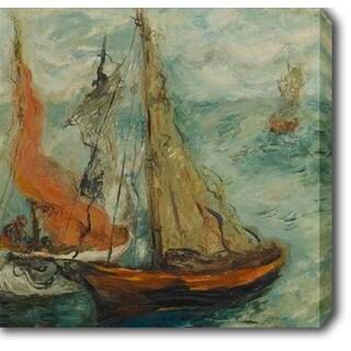 Issachar ber Ryback 'Sailboats' Oil on Canvas Art