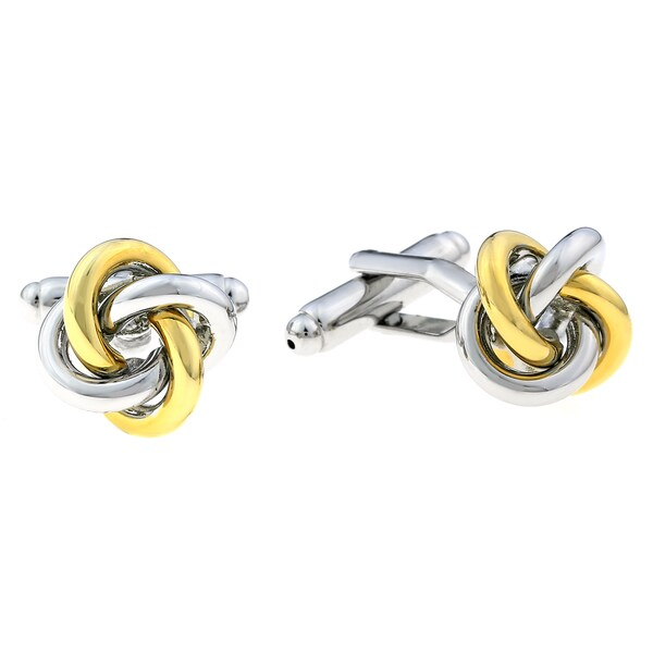 Stainless Steel Knot Design Cuff Links with Gold Ionic-plating