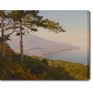 Krachkovsky Joseph Evstafievich 'View of Yalta' Oil on Canvas Art