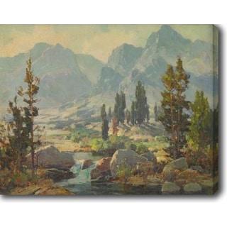 Mountain Creeks' Oil on Canvas Art