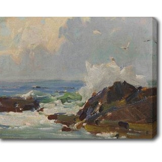 Waves on the Rocks' Oil on Canvas Art