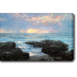 Sunset by the Sea' Oil on Canvas Art