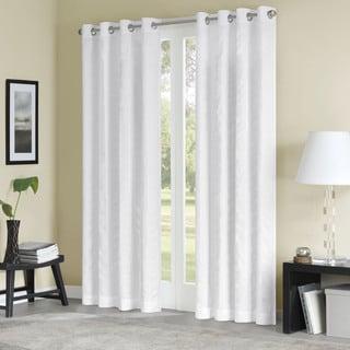 Madison Park Sheridan Vertical Stripe Solid Curtain Panel