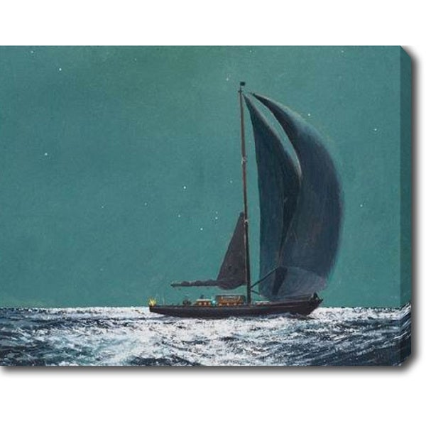 Sailing under the Moonlight' Oil on Canvas Art