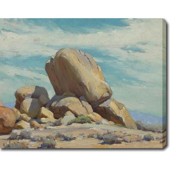 The Boulder' Oil on Canvas Art