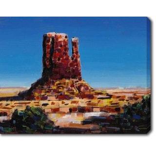 Red Rocks' Oil on Canvas Art
